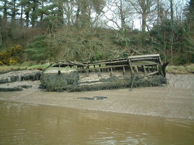 Wooden wreck, King's Channel, Waterford
