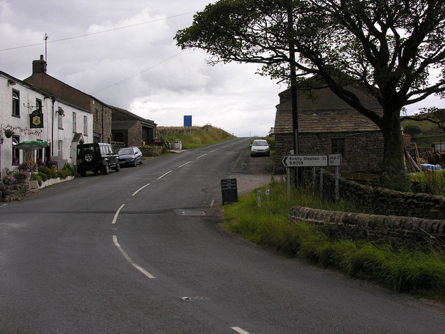 Moorcock Inn  road junction