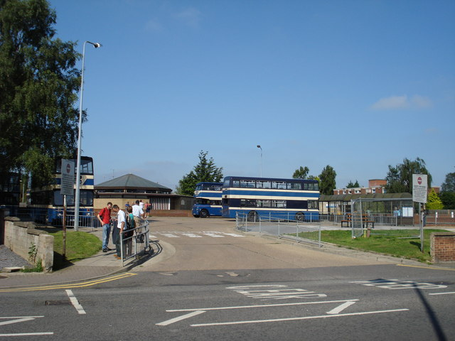 Bourne bus station at the height of summer
