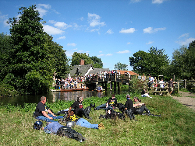 Human geography at Flatford on August Bank Holiday