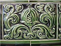 TQ2785 : Decorative tile in Belsize Park tube station by Oxyman
