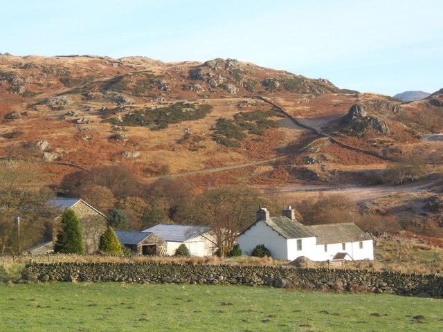 Hazel Head farm from the Birker Fell road