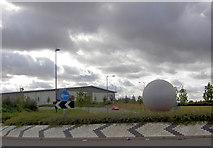 SE5209 : Redhouse Industrial estate roundabout. by Steve  Fareham