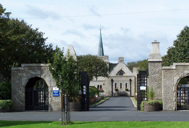 Entrance to Whitley Bay Cemetery