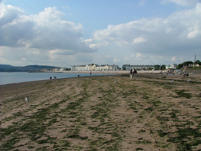 Exmouth from the beach