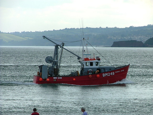 A fishing trawler returns to Exmouth