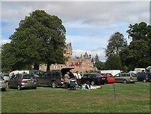 NO3847 : Car park picnic, Angles Park by Richard Webb