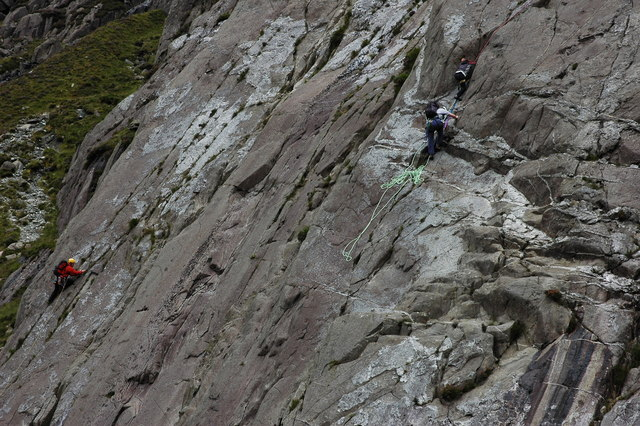 Climbers on the Idwal Slabs