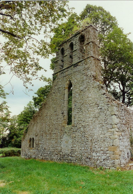 Ballygarth church, west gable