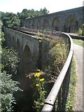 SJ2837 : Chirk canal aqueduct and railway viaduct by Trevor Rickard