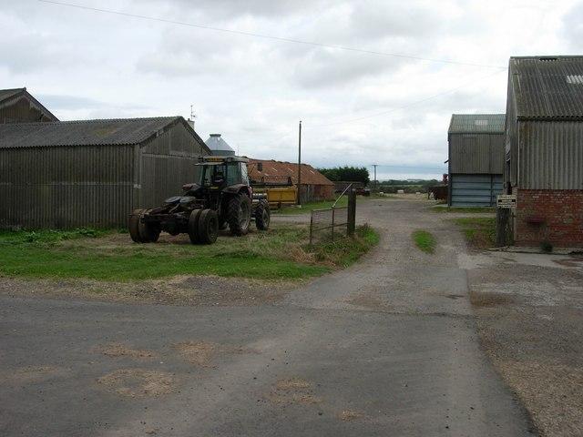 Yard and farm buildings at Magdalen Grange Farm