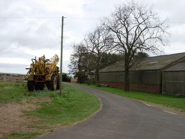 Lane leading away from Magdalen Grange Farm