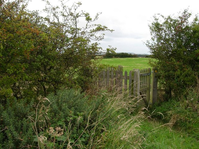 Gated footpath north of Muston