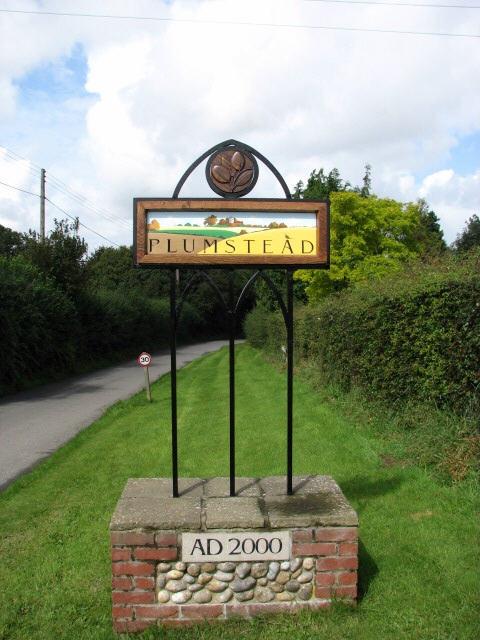 Plumstead village sign on Cherry Tree Road