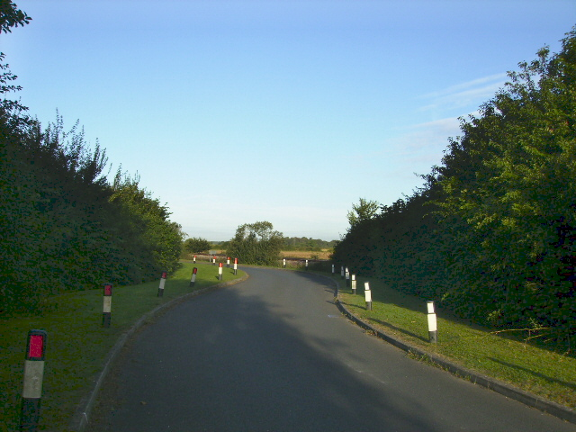 Access road leading from Knapton Power Station