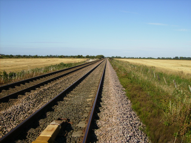 The Scarborough to York railway north west of Sherburn