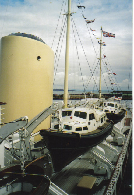 Lifeboats on the Royal Yacht , Britannia