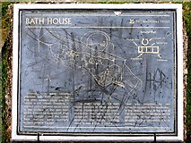 NY2101 : Hardknott Castle Roman Fort - Bath House signboard by Rob Farrow