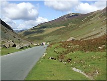 NY2114 : Honister Pass between Honister & Yew Crags by Rob Farrow