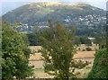 SO7650 : Mixed farmland and the Malvern Hills by Trevor Rickard