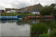 ST6669 : Narrowboats moored on the Avon by Philip Halling