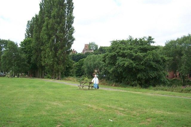 Playing field near River Severn