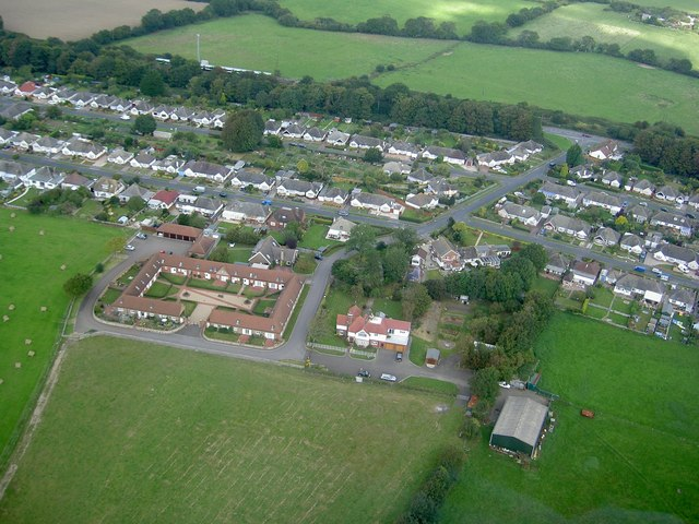 Stud Farm Stables, Farm and Stud Farm Estate from air