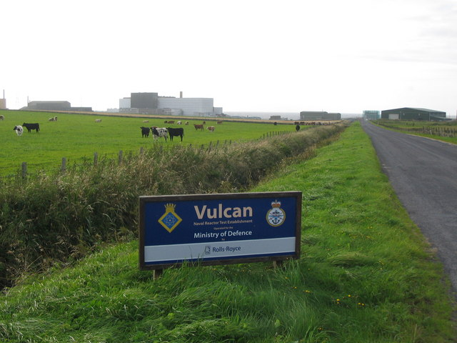 Entrance road to Vulcan NRTE