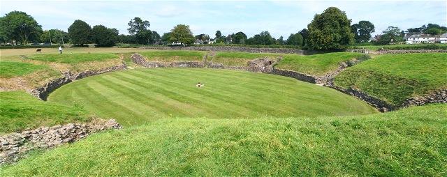 Roman amphitheatre at Caerleon