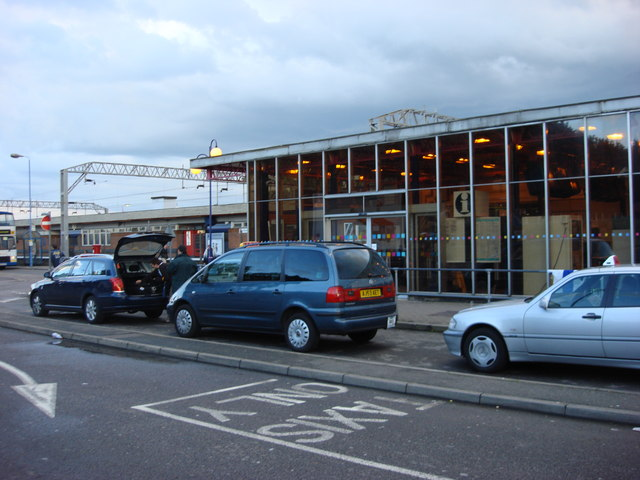 Taxi Rank outside Colchester railway station