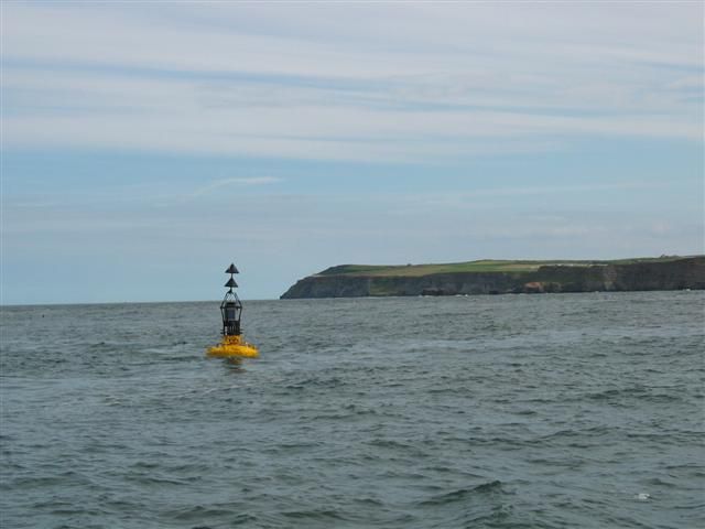 Bell Rock buoy off Whitby Harbour.