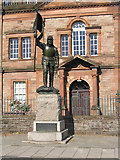 NT4728 : The Fletcher Statue in Selkirk by Walter Baxter