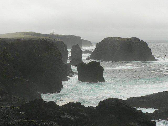 View to Esha Ness lighthouse