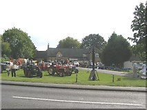 TF1505 : Vintage vehicle display, Bluebell pub green by Brian Green