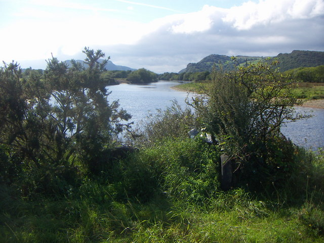 A quiet reach of the Glaslyn
