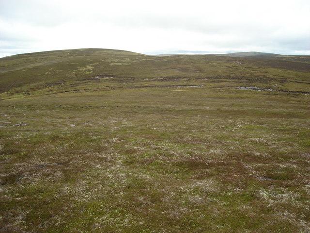 Looking southwest towards Creag an Dubh-chada