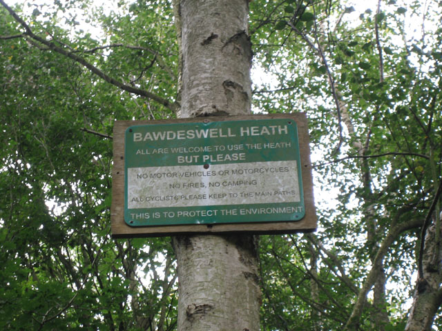Welcome to Bawdeswell Heath but please ...