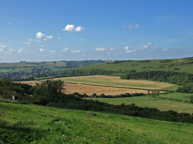 Towards Cerne Abbas from Yelcombe Bottom