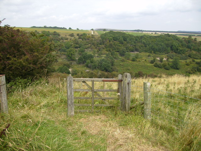 Bridleway down to Murton and Yowlass Woods