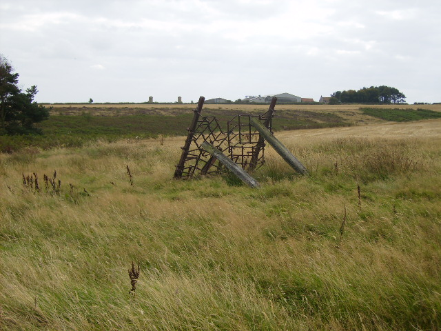 Agricultural implement propped up on the moor