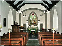 NY1717 : The Parish Church of St James, Buttermere, Interior by Alexander P Kapp