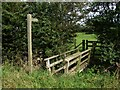 TF3264 : Footbridge and footpath to St Andrews graveyard, Miningsby by Dave Hitchborne