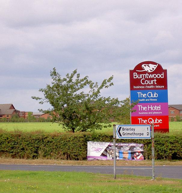 Burntwood Court signage.