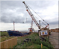 TA0623 : Barrow Haven Timber Wharf by David Wright