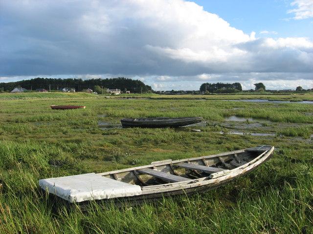 Traditional fishing boats at The Crook, Mornington