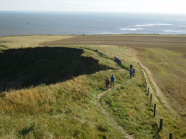 Erosion at Lebberston Cliff on the Cleveland Way