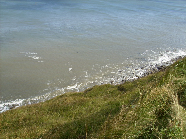 The shoreline at North Cliff by The Cleveland Way