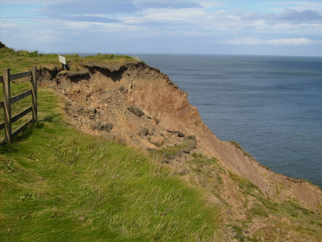 Cliff erosion on North Cliff near Filey