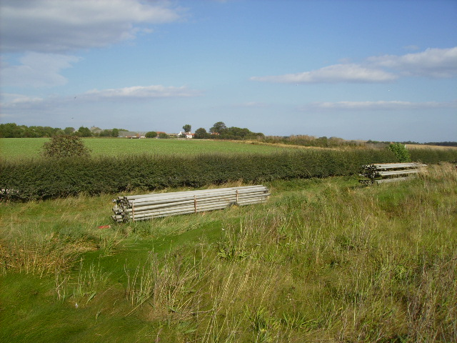 Irrigation pipes stored at Lebberston Carr