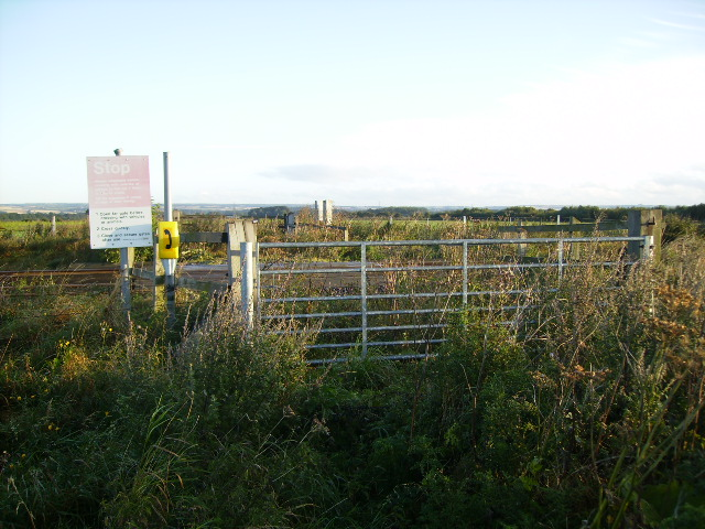 Unused railway crossing